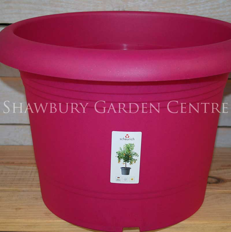 Picture of Scheurich Living Ruby Plastic Plant Pot