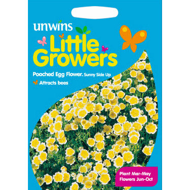 Picture of Unwins Little Growers Poached Egg Flower Seeds