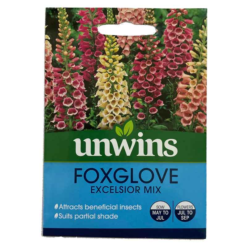 Picture of Unwins 'Excelsior Mix' Foxglove Seeds