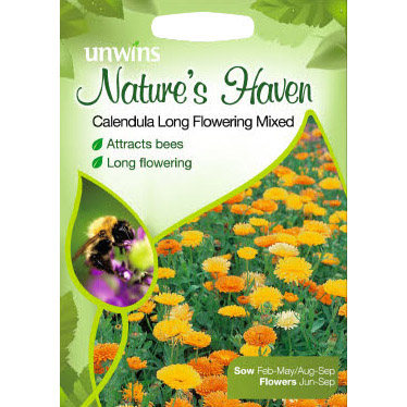 Picture of Unwins Nature's Haven Calendula Long Flowering Mixed