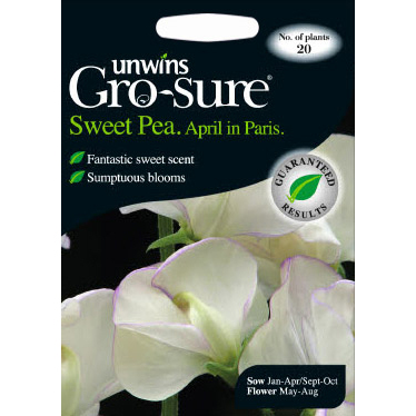 Picture of Unwins Gro-sure® 'April in Paris' Sweet Pea Seeds