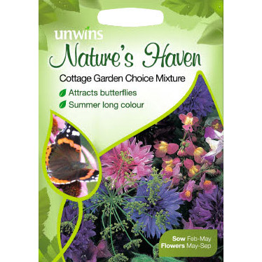 Picture of Unwins Nature's Haven Cottage Garden Choice Seed Mix