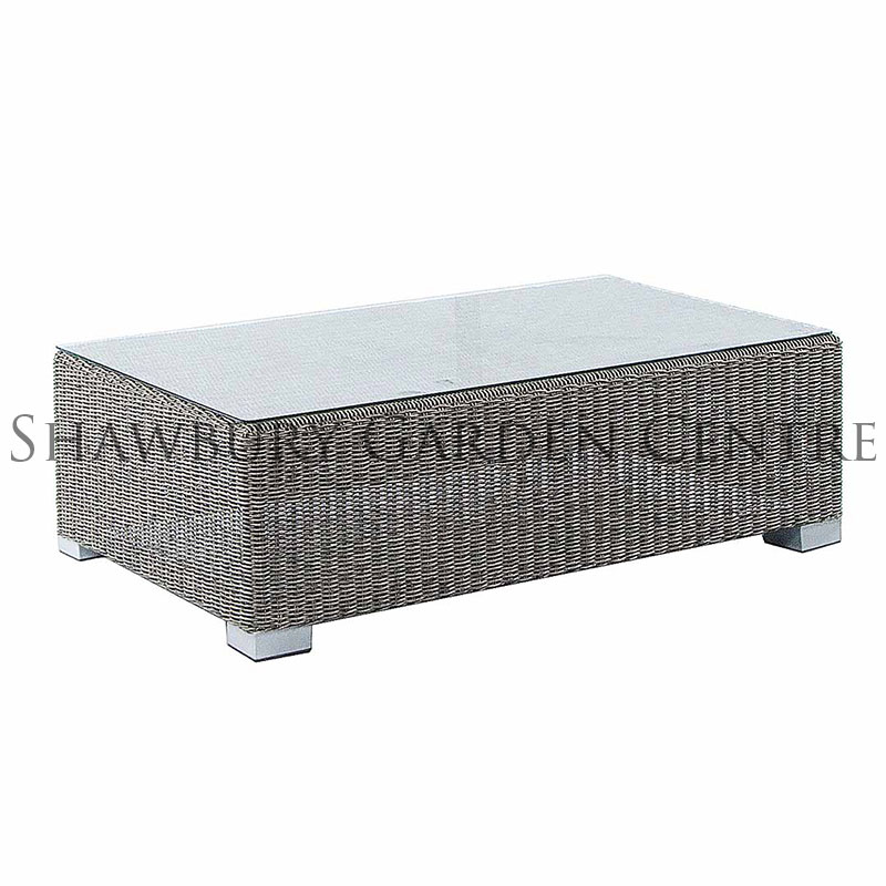 Picture of Alexander Rose Monte Carlo Coffee Table with Glass Top