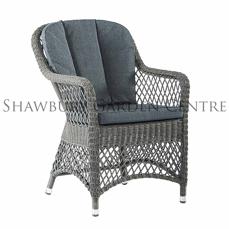 Picture of Alexander Rose Monte Carlo Open Weave Armchair with Cushions