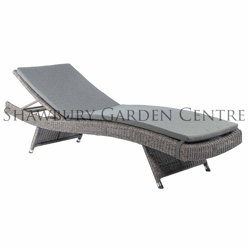 Picture of Alexander Rose Monte Carlo Stackable Sunbed with Cushion