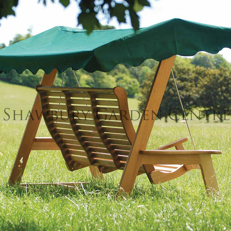 Picture of Alexander Rose Mahogany Garden Swing Seat with Canopy