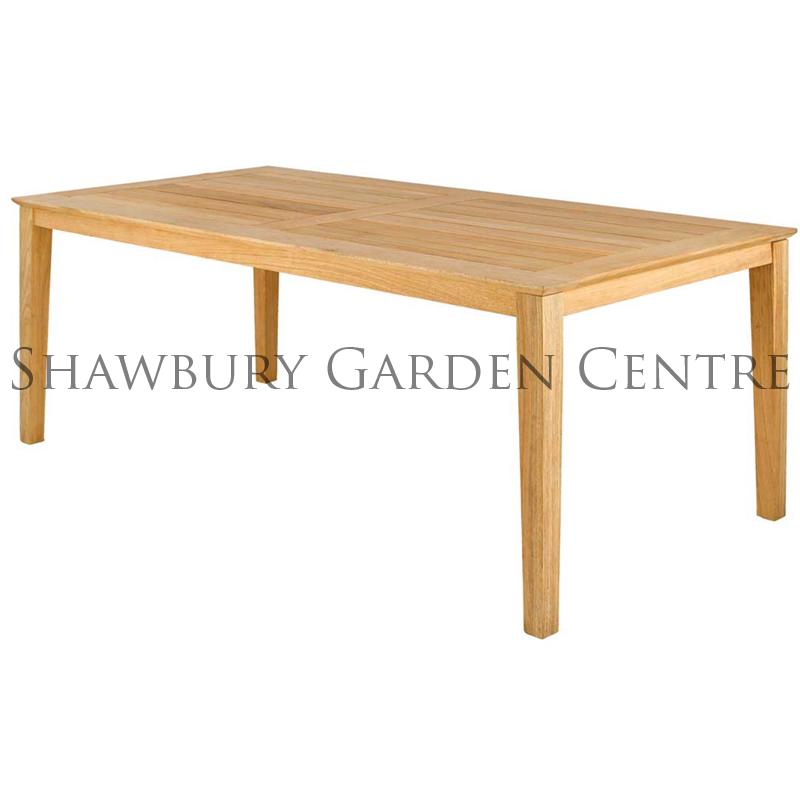 furniture garden tables alexander rose roble rectangular table 1m x 2m. Black Bedroom Furniture Sets. Home Design Ideas