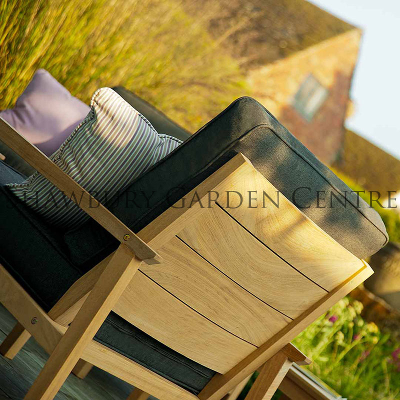 Picture of Alexander Rose Roble Lounge Chair with Charcoal Cushions