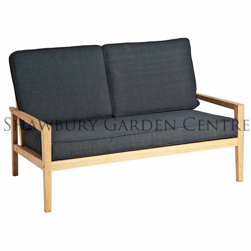 Picture of Alexander Rose Roble Lounge Sofa with Charcoal Cushions