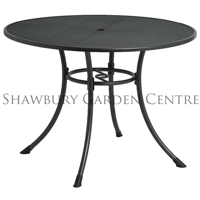 Picture of Alexander Rose Portofino Round Metal Garden Table