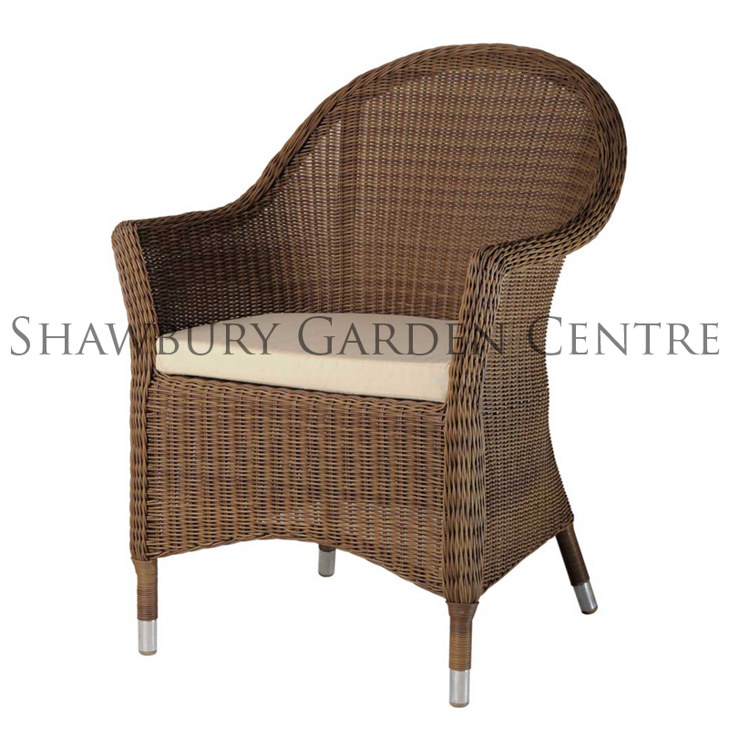 Picture of Alexander Rose San Marino Curved Top Armchair with Cushion