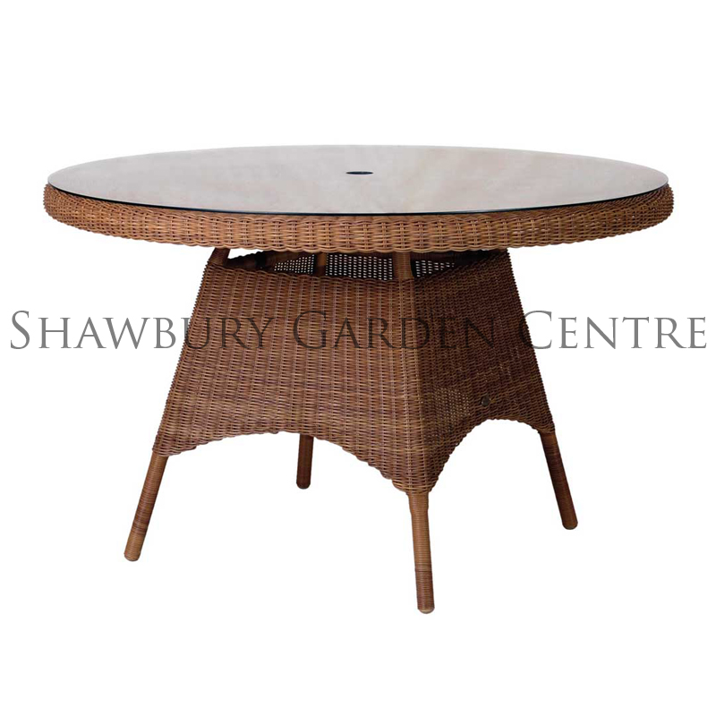 Picture of Alexander Rose San Marino Round Table: 1.2m with Glass Top
