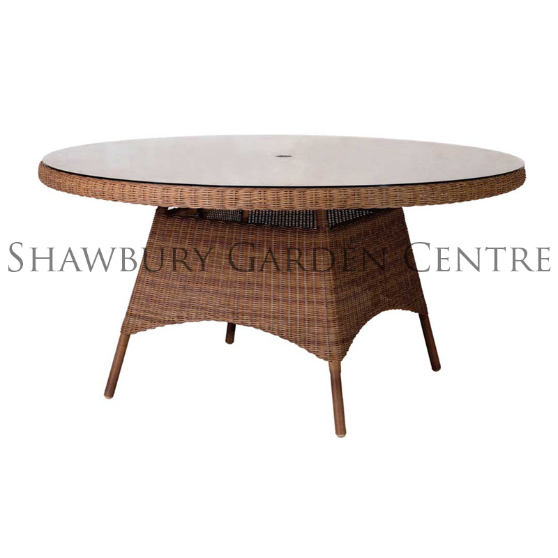 Picture of Alexander Rose San Marino Round Table: 1.5m with Glass Top