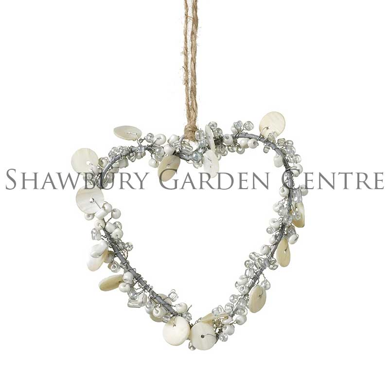 Picture of Parlane Metal Heart with Buttons and Bead Decoration