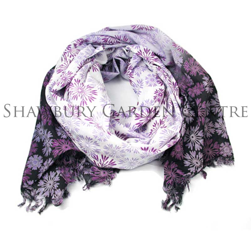 Picture of Pink Ombre Flower Cotton Scarf