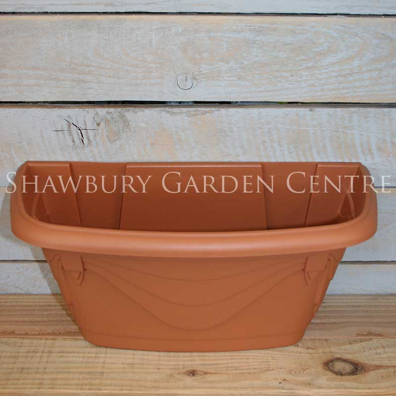 Whitefurze Heavy Duty Plastic Wall Planter 42cm Terracotta