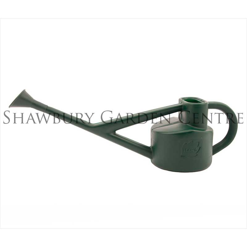 Haws litre plastic conservatory watering can green for Gardening tools watering