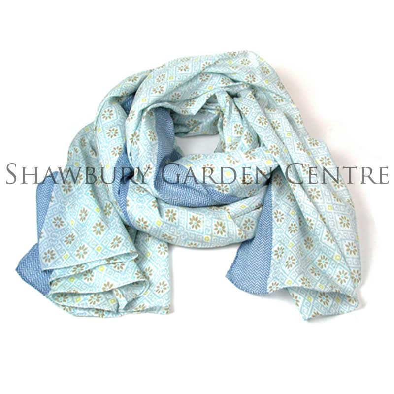 Picture of Pretty Blue Print Scarf