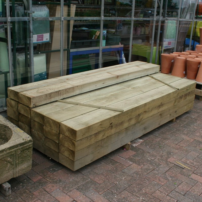 Picture of Shawbury Garden Centre New Pressure Treated Railway Sleepers