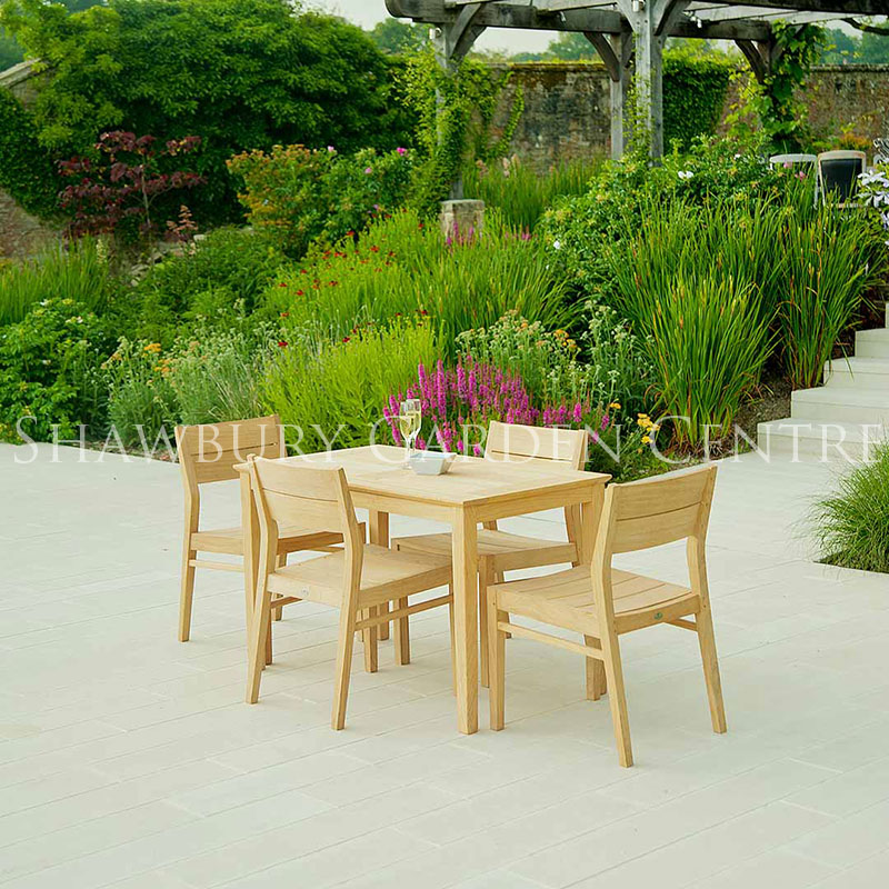 Picture of Alexander Rose Roble Patio Garden Furniture Set for Four