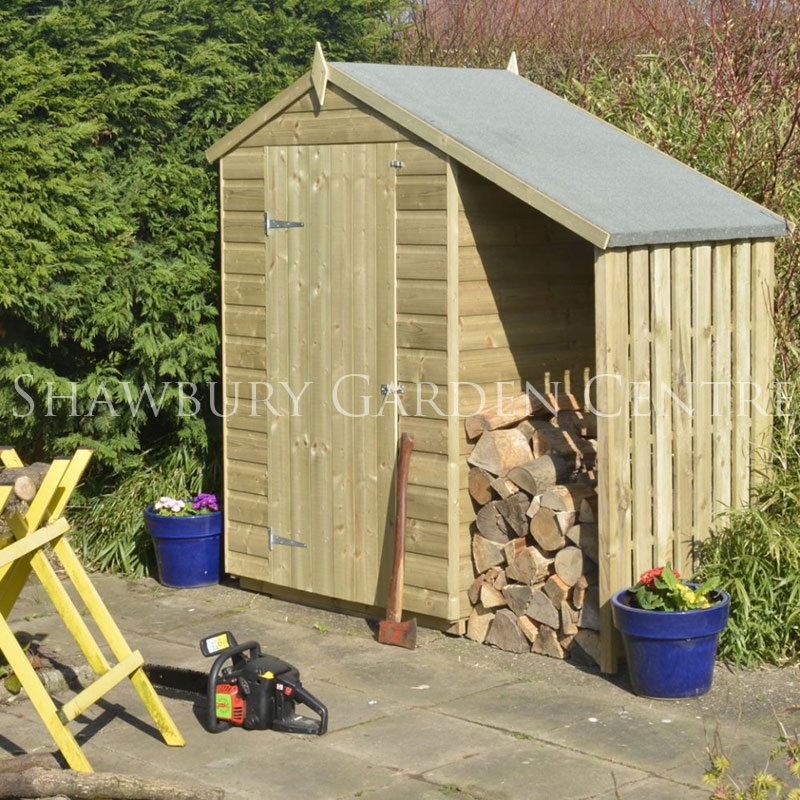 Rowlinson large log store for Big sheds for garden