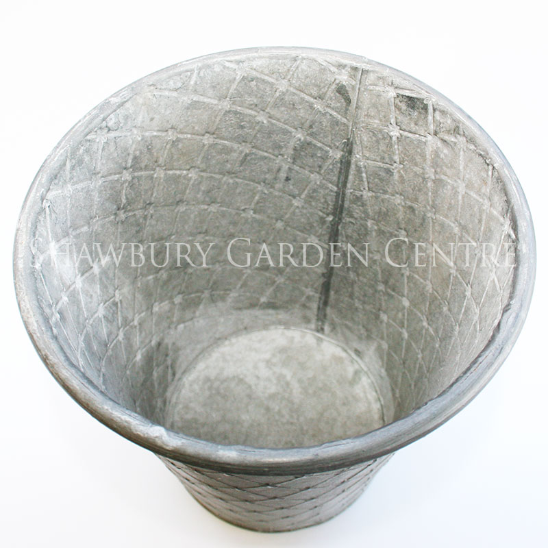 Picture of Round Aged Metal Indoor Plant Pot