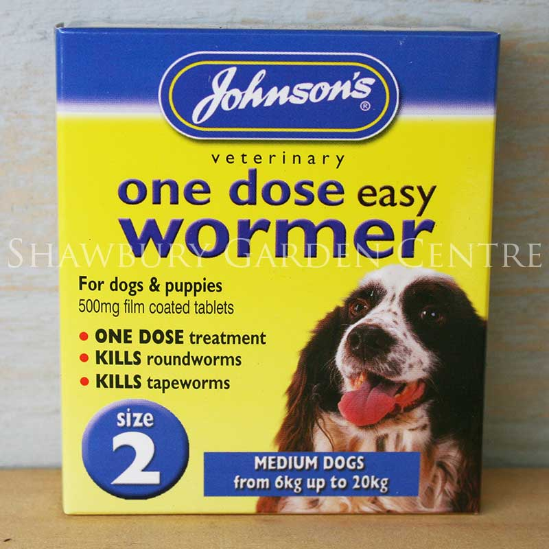 Picture of Johnson's Veterinary One Dose Easy Wormer for Medium Dogs