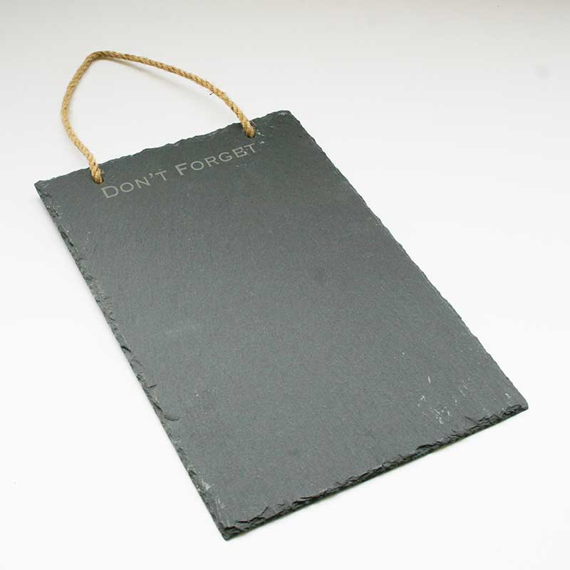 Picture of Parlane 'Don't Forget' Wall Hanging Slate Memo Board