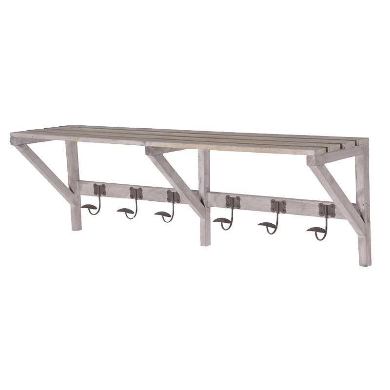 Picture of White Washed Wooden Shelf Rack