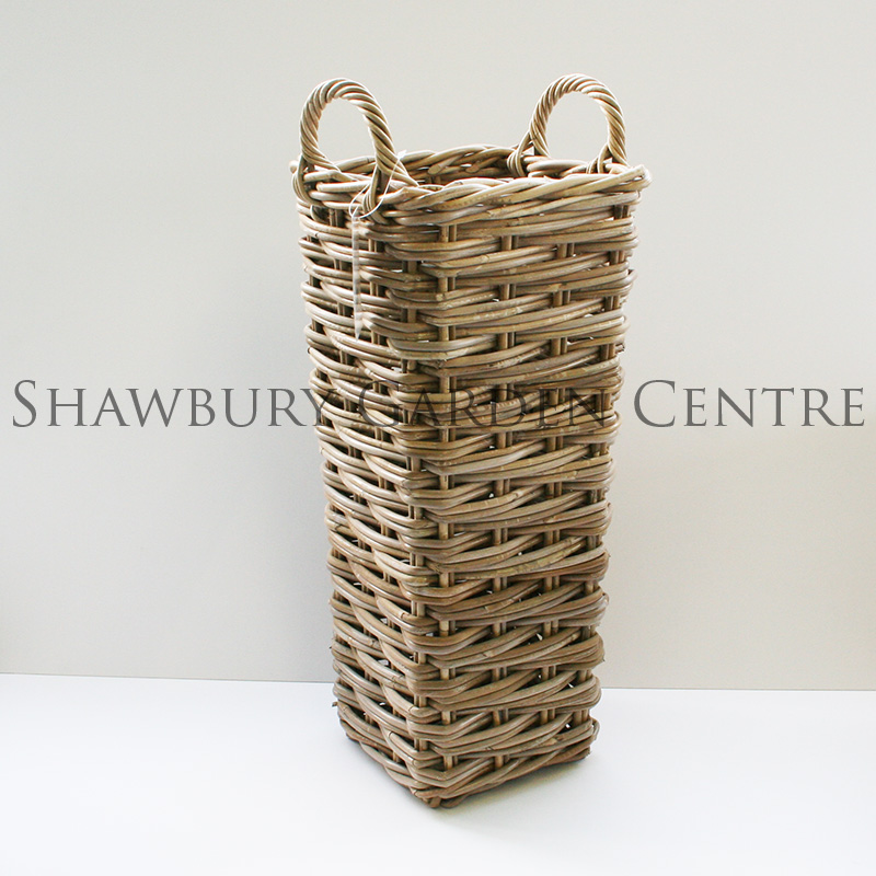 Picture of Glenweave Square Woven Umbrella Stand with Handles