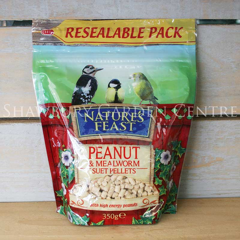Picture of Peanut & Mealworm Suet Pellets