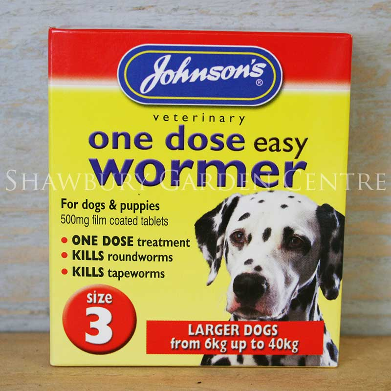 Picture of Johnson's Veterinary One Dose Easy Wormer for Large Breed Dogs