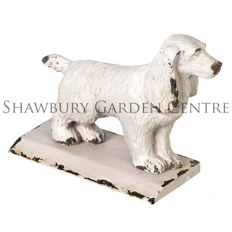 Picture of Spaniel Door Wedge - Distressed Metal