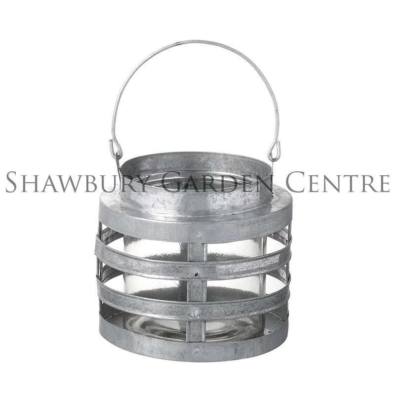 Picture of Parlane 'Sabot' Galvanised-Effect Lantern with Glass Insert